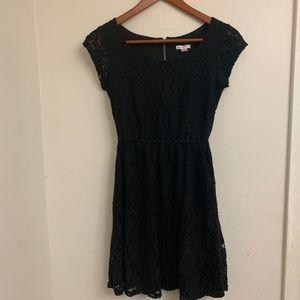 Xhilaration Black lace dress- XS